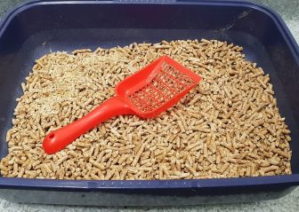 cat litter tray and scoop